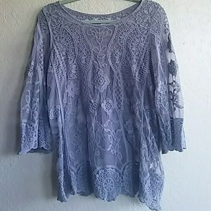 Tops - Target mesh and embroidered top